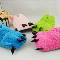 Adult Teen Green Blue Pink Monster Animal Bear Big Foot Home Party Tiger Slipper