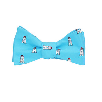 Lighthouse Bow Tie - Printed Silk