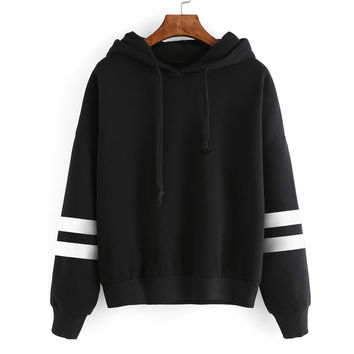 Womens Casual Sweatshirt Long Sleeve Hoodie Sweatshirt Jumper Hooded Pullover Tops camisetas y tops INY66