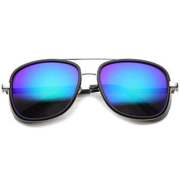 Vintage Steampunk Square Roadster Mirror Lens Sunglasses A020