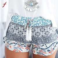 Women shorts Summer Casual Shorts High Waist  Shorts Printed Sexy Feminino shorts Exercise Trousers