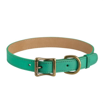 A Dog Collar Italian Leather | Green