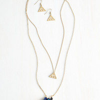 ModCloth Boho Living in an Ethereal World Necklace and Earring Set
