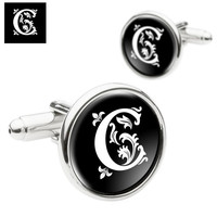 Father of The Bride Cufflinks, Monogram Cufflinks, Personalized Mens Cufflinks, Special Gift for Fathers, Groom, Husbands