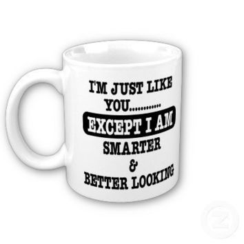 Just Like You Smarter Better Looking Mugs from Zazzle.com