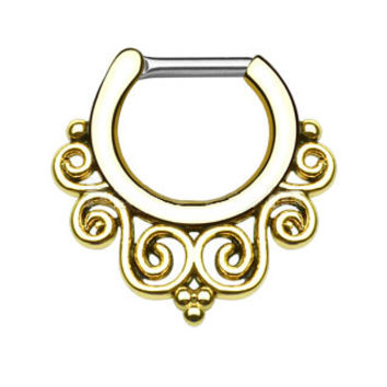 Tribal Swirls IP Septum Clicker