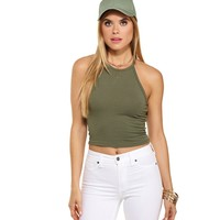 Olive All Yours Crop Top
