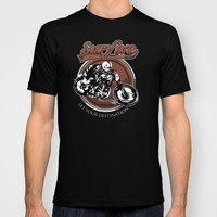 Street Bikers Racer Typograph Made in USA Short sleeves tee tshirt