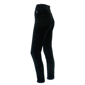 Christian LaCroix Black Velvet Peg Jeans with High Waist