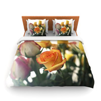 "Beth Engel ""Sweet Reminder"" Flowers Yellow Lightweight Duvet Cover"