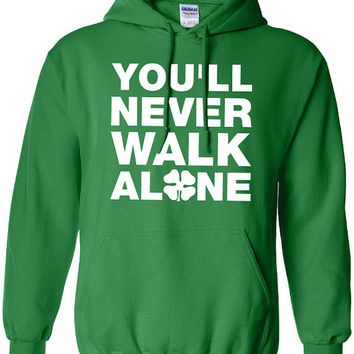 Glasgow Celtic you'll never walk alone football pride scotland graphic united kingdom hoodie hooded sweatshirt Mens Ladies kid soccer ML-149
