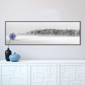 HDARTISAN Nordic Decor Winter Forest Wall Art Poster Canvas Art Print Landscape Painting Wall Picture For Living Room No Frame