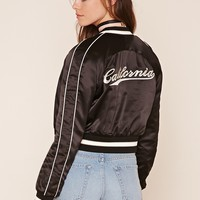 California Satin Bomber Jacket