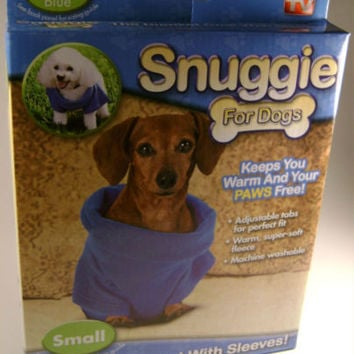 Lot 2 Snuggie for Dogs Blanket Coat Sleeves Small Fleece Washable Adjustable NEW