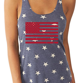 Two Sided Merica Stars and Stripes Shirt Merica Tank American Flag Eco Tank 4th of July Tank