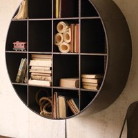 giant round cubby shelves | big round cubby | industrial storage | iron storage | metal furniture