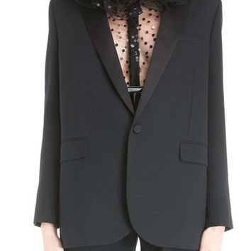 Saint Laurent One-Button Tuxedo Jacket | Nordstrom