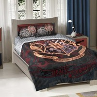 Warner Brothers Harry Potter School Motto Twin/Full Comforter with 2 Pillow Shams by The Northwest Company