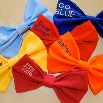 School Spirit Slogan/Mascot Hair Bow