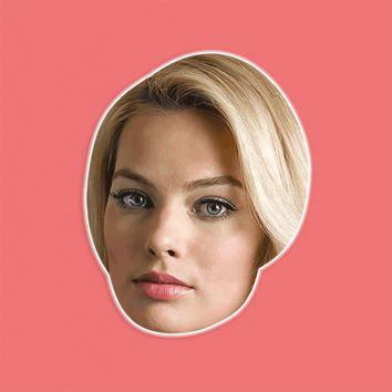 Confused Margot Robbie Mask - Perfect for Halloween, Costume Party Mask, Masquerades, Parties, Festivals, Concerts - Jumbo Size Waterproof Laminated Mask