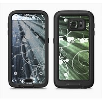 The Green and White Light Arrays with Glowing Vines Full Body Samsung Galaxy S6 LifeProof Fre Case Skin Kit