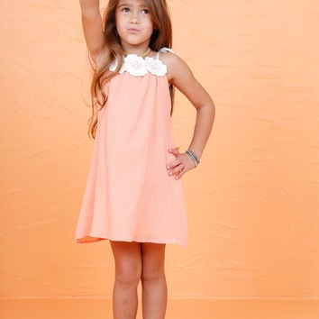 LIL' LEMONS | Willa Jean Tank Dress - Creamsicle