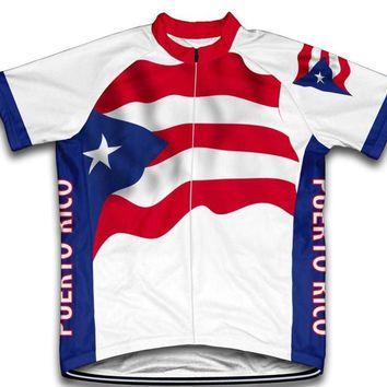 New Classical Puerto Rico USA Pro Team Bike Cycling Jersey Breathable Customized Jiashuo Road Mountain