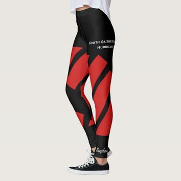Red Team/Club Leggings with Fake Shorts