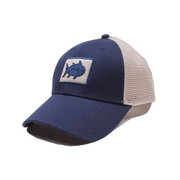 Gameday Skipjack Fly Patch Trucker Hat in Navy by Southern Tide