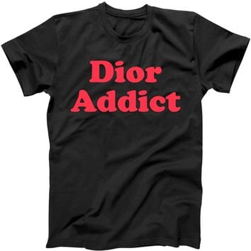 Dior Addict Socialite Los Angeles, CA Basketball Slogan Logo T-Shirt | TeeShirtPalace
