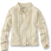 Girls' Fisherman Cardigan: Sweaters | Free Shipping at L.L.Bean