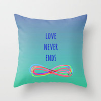 Love Never Ends (summer) Throw Pillow by Shawn Terry King