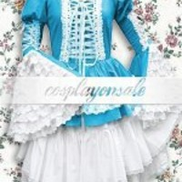Lolita Costumes Cotton Blue Green Gothic Lolita Dress [T110571] - $73.00