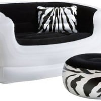 Pure Comfort 8513LS Inflatable Zebra Love Seat and Ottoman:Amazon:Sports & Outdoors
