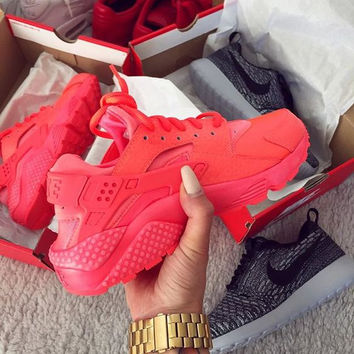 """""""NIKE""""AIR Huarache Running Sport Casual Shoes Sneakers Red"""