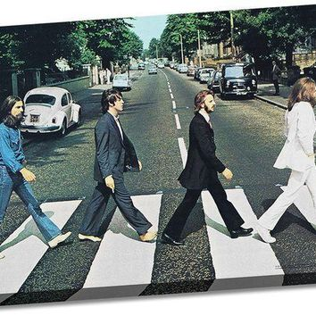 ONETOW The Beatles Abbey Road 24x36 Canvas