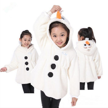Olaf Children Costume Classic Olaf Movie and TV Fancy Dress Costume Animals Snowman Olaf Cosplay Clothing Best Gift For Kids