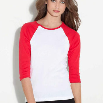 3/4 Sleeve Baseball Ladies Jersey