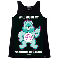 Evil Care Bear Satanic Tank- LAST ONE