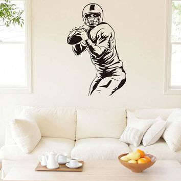 DCTOP Rugby Players Wall Stickers Home Decor DIY Removable Waterproof Vinyl Wall Decals Sports Murals Graphic Art Decor Sport