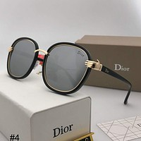 DIOR 2018 new trend retro box personality metal anti-UV polarized sunglasses #4
