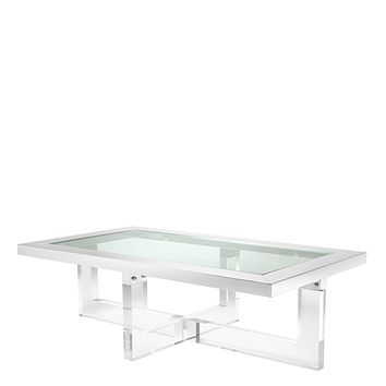 Crossed Leg Glass Coffee Table | Eichholtz Horizon