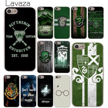 Lavaza Harry Potter Slytherin School Crest Phone Cover Case for Apple iPhone X XR XS Max 6 6S 7 8 Plus 5 5S SE 5C 4S 10 Cases