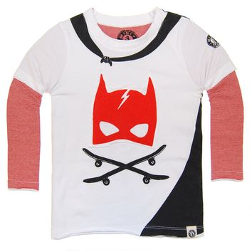 Caped Super Hero Twofer T-Shirt by: Mini Shatsu