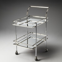 "Gatsby Contemporary Bar Cart 25""W by Butler Specialty"