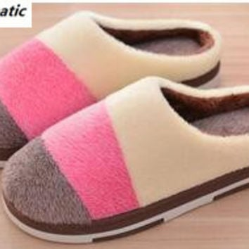 Soft House Slippers Women Men Home Shoes Cute Bedroom Foot Warmer Japanese Indoor Slippers Fur Pantufa Zapatillas Casa Chaussons