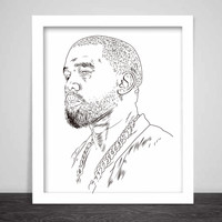Kanye West Yeezus Art Poster (6 sizes) // Yeezy Tour