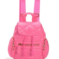 Ultra Pink Hollywood Hideaway Nylon Backpack by Juicy Couture, O/S