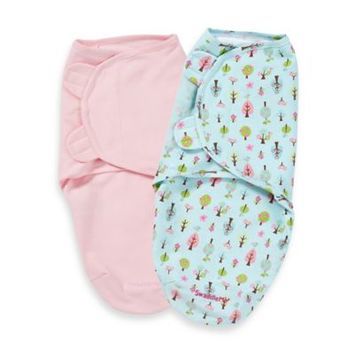 Summer Infant® Size Small/Medium Cotton SwaddleMe® 2-Pack in Sweet Trees