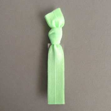 1 Pale Kelly Green Hand Dyed Hair Tie by by ElasticHairBandz